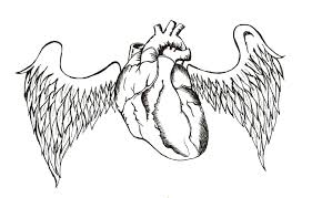 anatomical heart banner tattoo design photo 2 photo pictures