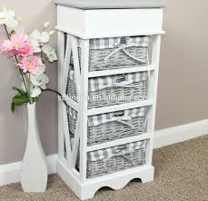 storage nice wicker basket storage chest 4 drawer unit elegant