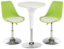Bar Stool And Table Sets White Bar Lounge Chair And Table Includes 2 Leatherette Seats