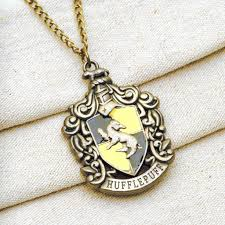 harry potter pendant necklace images Harry potter hufflepuff house crest pendant necklace bronze jpg