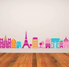 wall decal kids children murals for the home pinterest wall wall decal kids children murals paris bedroomparis