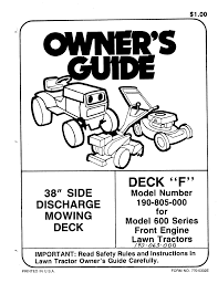 mtd lawn mower 190 805 000 user guide manualsonline com