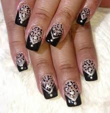 Nail Designs Cheetah Nail Designs Black Tip Gel Nail Designs Simple Black Tip To