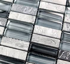 Gray Stone Backsplash by Design Decor Glass Mosaic Kitchen Backsplash Tiles Sgmt030 Crystal