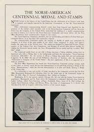 centennial celebration souvenir booklet commems collection 1925 norse american centennial coin