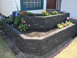 landscape retaining walls ideas with faux stone u0026 brick
