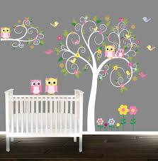 floral tree owl decal nursery wall stickers owl tree nursery zoom