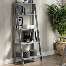 Leaning Bookcase Woodworking Plans by Gracie Oaks Brayton Wood Ladder 55