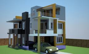incredible 3d exterior concept for residential building