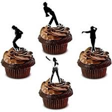 michael cake toppers michael jackson edible cup cake toppers decorations stand ups ebay