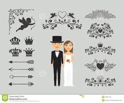 wedding invitation design wedding invitation design elements stock vector image 48901146