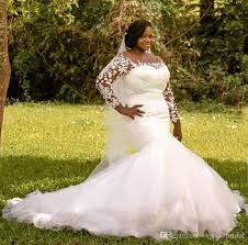 south wedding dresses 2018 plus size mermaid wedding dresses scoop neck with lace