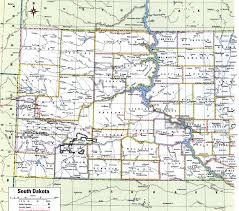 south dakota map with cities south dakota county map