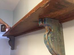 How To Build Wooden Shelf Supports by Easy Diy Shelf Brackets U0026 Wood Shelf Crafted From Reclaimed Wood
