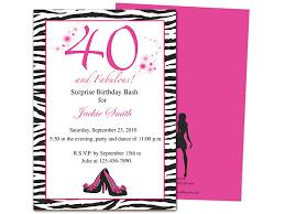 40th birthday invite image collections invitation design ideas