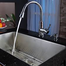 Installing New Kitchen Faucet by Stainless Steel Kitchen Sink Combination Kraususa Com