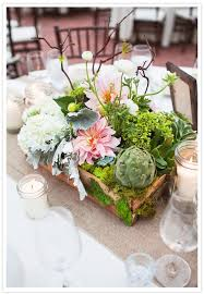 Wooden Centerpiece Boxes by Centerpieces In Wooden Box Filled With White Hydrangea Mini