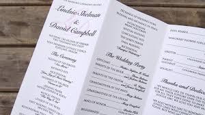 trifold wedding program paper trifold programs europe tripsleep co