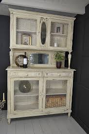 Shabby Chic Used Furniture by French Shabby Chic Kitchen Dresser With Chicken Wire Doors White