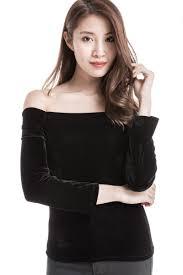 Shoulder Top - velvet shoulder top black wardrobemess