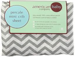 Mini Crib Mattress Sheets American Baby Company 100 Cotton Percale Fitted