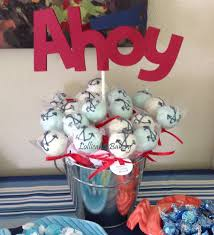 ahoy it u0027s a boy baby shower cake pops made to order with high
