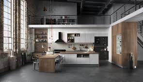 cuisine style loft industriel cuisine équipée ouverte esprit loft modèle harmonie stratifié