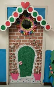 German Christmas Door Decorations by Gingerbread House Door Decoration Christmas Bullentin Boards