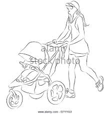 mom pushing stroller cut stock images u0026 pictures alamy