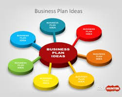 free 3d business plan diagram idea for powerpoint is a simple
