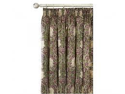 Aubergine Curtains Morris Pimpernel Aubergine Lined Curtain Pairs