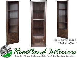 Ebay Bookcase by 6ft Tall Solid Pine Corner Display Bookcase Unit With Cupboard Ebay
