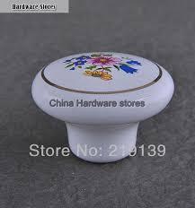 porcelain knobs for kitchen cabinets flower single hole ceramic furniture kitchen cabinet hardware drawer