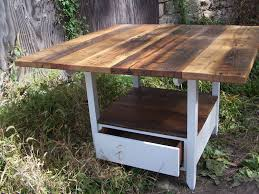 charming kitchen table with storage handmade reclaimed wood trends