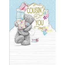 cousin birthday me to you bear card 1 79 a tandy teddy love