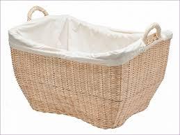 cane laundry hamper bedroom marvelous 3 compartment laundry basket white cane