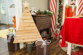 how to diy wooden christmas tree hallmark channel