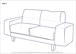 learn how to draw a couch furniture step by step drawing tutorials