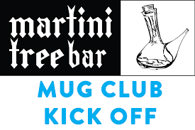 martini bar logo martini tree mug club kick off event