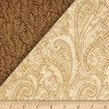 sided quilted paisley discount designer fabric