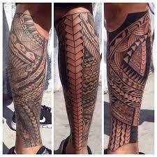 tattoo tribal na perna masculina tatuagem maori veja 100 modelos com seus significados