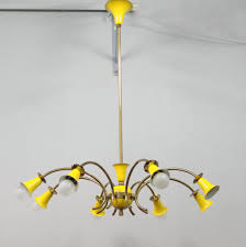 1950s Chandelier Yellow Italian Chandelier 1950s For Sale At Pamono
