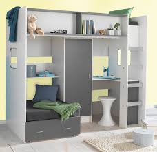 childrens and teenagers high sleeper bed with futon style bed