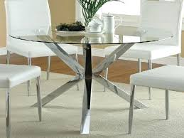 Glass And Chrome Dining Table Dining Table Round Dining Table With Metal Base And Wood Top