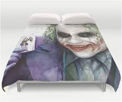 Batman Double Duvet Cover Batman Heath Ledger Super Villain Joker Bedding U2013 Superhero Sheets