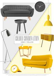 Yellow And Grey Home Decor Living Room Images Of Drawing 25 Design Ideas Color Combination