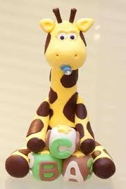 giraffe cake topper boy giraffe cake topper by artsinhand on etsy polymer clay