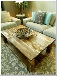 diy rustic coffee table i love this i would want matching end