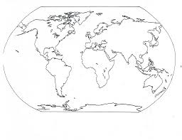 Printable World Map Map Coloring Pages 11904
