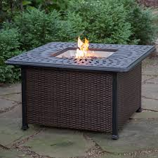 outdoor napoleon square propane fire pit table fire pits with